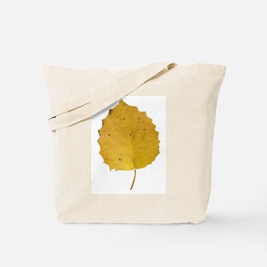 Golden Aspen Leaf Tote Bag