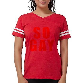 Red So Gay Womens Football Shirt