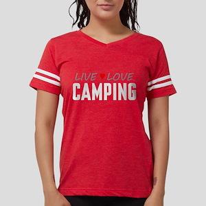 Live Love Camping Womens Football Shirt