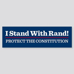 I Stand With Rand Bumper Sticker