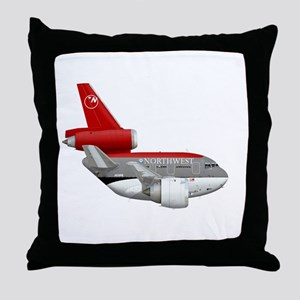 northwest airlines DC 10 Throw Pillow