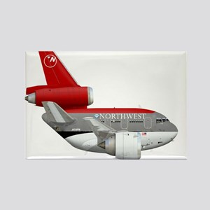 northwest airlines DC 10 Rectangle Magnet