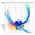 Abstract Bird in Flight Shower Curtain