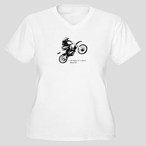 Dirtbike Women's Plus Size V-Neck T-Shirt