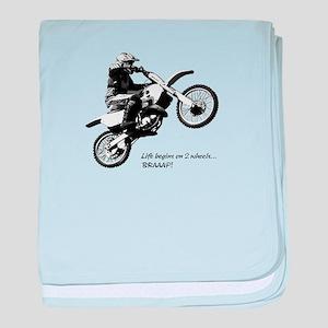 Dirtbike baby blanket