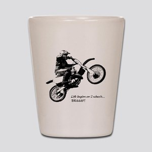 Dirtbike Shot Glass