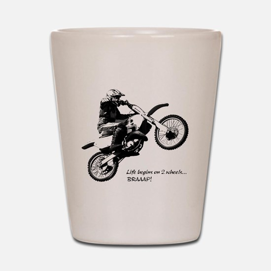 Dirtbike Shot Glass