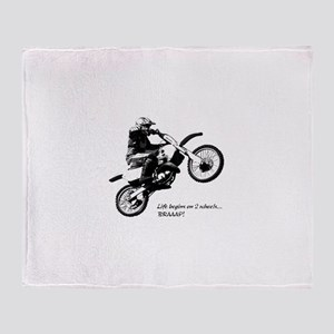 Dirtbike Throw Blanket