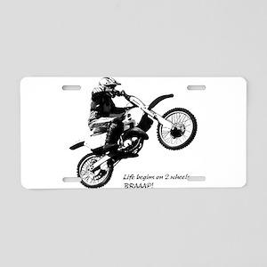 Dirtbike Aluminum License Plate