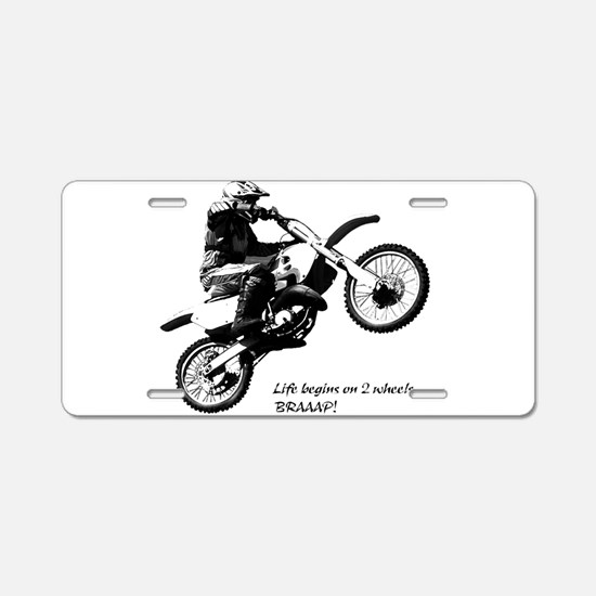 Dirtbike Aluminum License Plate