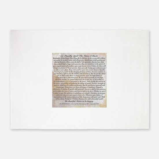 The Desiderata Poem by Max Ehrmann 5'x7'Area Rug