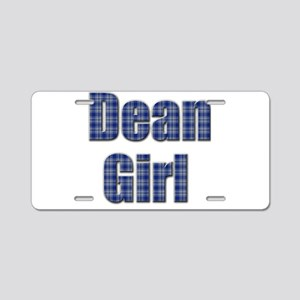 Dean Girl (blue plaid) Aluminum License Plate