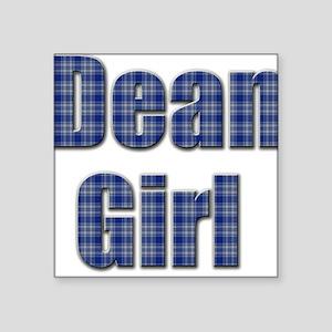 Dean Girl (blue plaid) Sticker