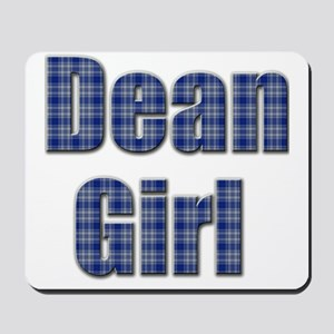 Dean Girl (blue plaid) Mousepad