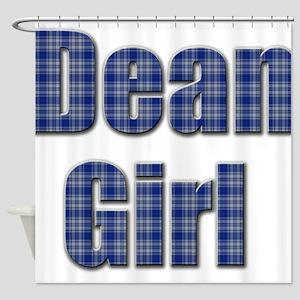Dean Girl (blue plaid) Shower Curtain