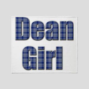 Dean Girl (blue plaid) Throw Blanket
