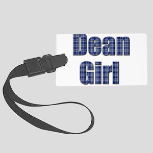 Dean Girl (blue plaid) Luggage Tag