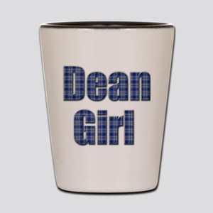 Dean Girl (blue plaid) Shot Glass
