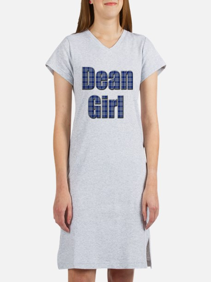 Dean Girl (blue plaid) Women's Nightshirt