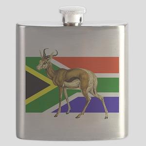 South Africa Springbok Flag Flask