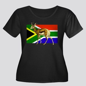 South Africa Springbok Flag Plus Size T-Shirt