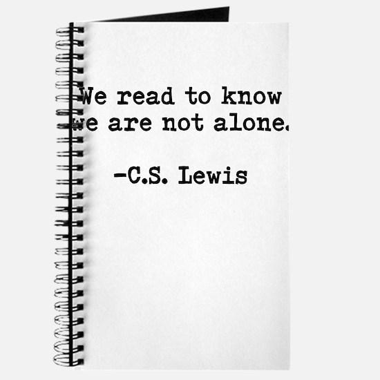 CS Lewis Not Alone Journal