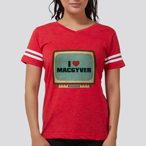 Retro I Heart MacGyver Womens Football Shirt