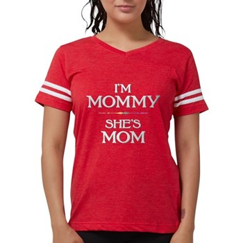 I'm Mommy - She's Mom Womens Football Shirt
