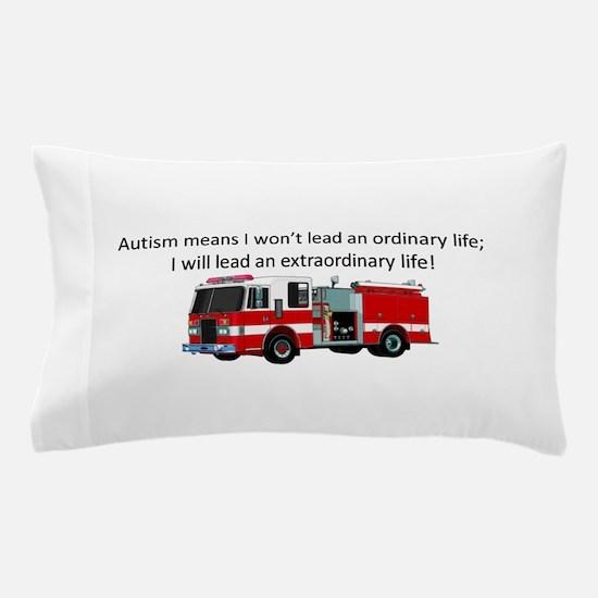 Autism firetruck Pillow Case