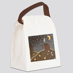 Night Night Sheepies Canvas Lunch Bag
