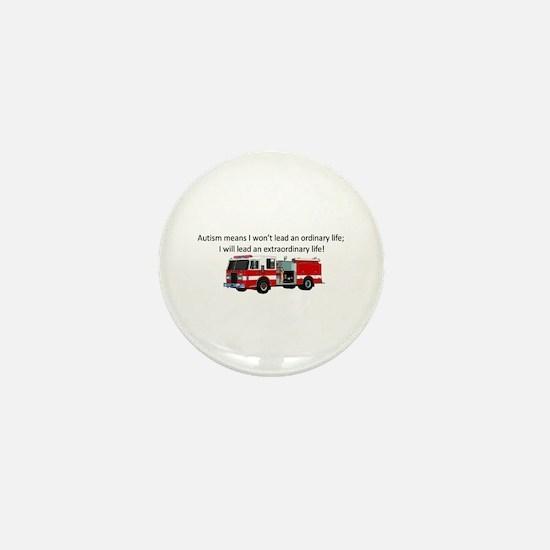Autism firetruck Mini Button