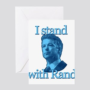 I STAND WITH RAND Greeting Card