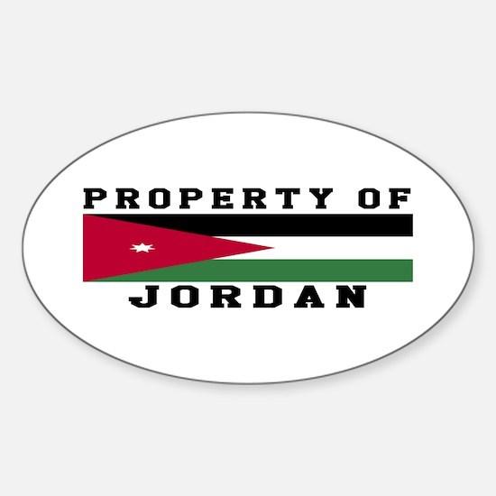 Property Of Jordan Sticker (Oval)