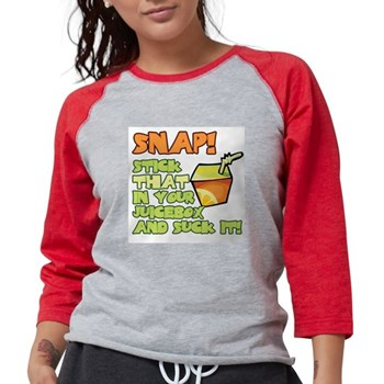 Stick that in your juicebox! Womens Baseball Tee