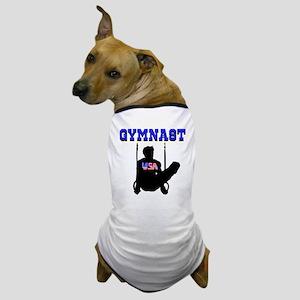 #1 GYMNAST Dog T-Shirt