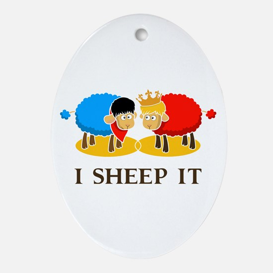 I Sheep It Ornament (Oval)