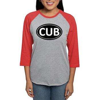 CUB Black Euro Oval Womens Baseball Tee