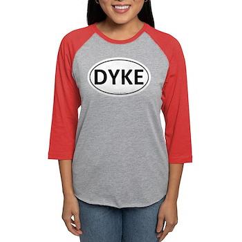 DYKE Euro Oval Womens Baseball Tee