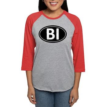 BI Black Euro Oval Womens Baseball Tee