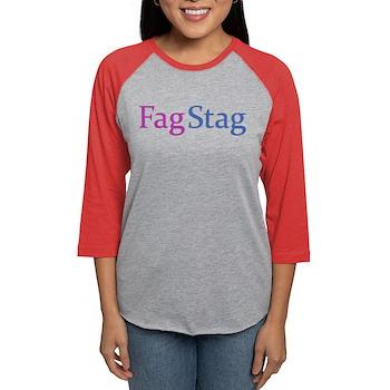 Fag Stag Womens Baseball Tee