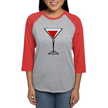 Vampire Martini Womens Baseball Tee