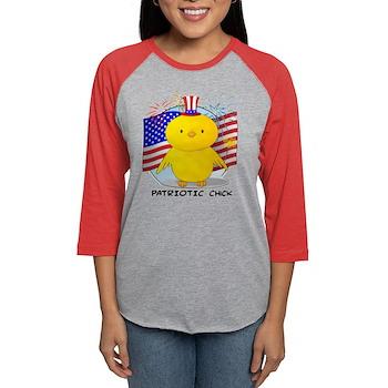 Patriotic Chick Womens Baseball Tee