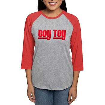 Boy Toy - Red Womens Baseball Tee