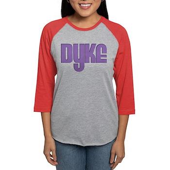 Purple Dyke Womens Baseball Tee