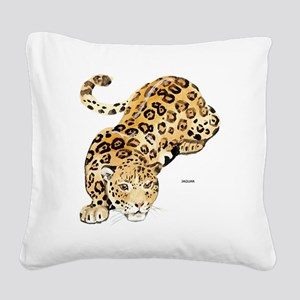 Jaguar Big Cat Square Canvas Pillow