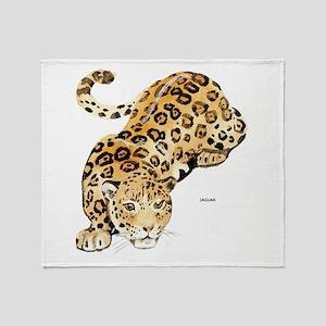 Jaguar Big Cat Throw Blanket