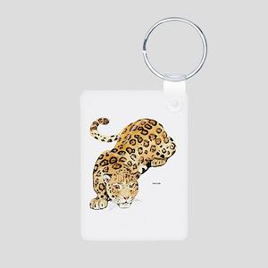 Jaguar Big Cat Aluminum Photo Keychain