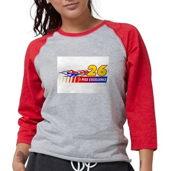 I Piss Excellence Womens Baseball Tee