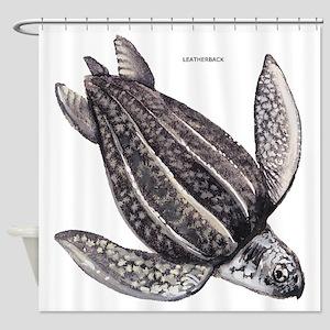 Leatherback Turtle Shower Curtain