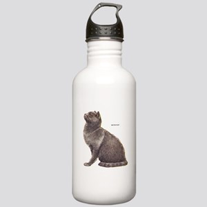British Blue Cat Stainless Water Bottle 1.0L